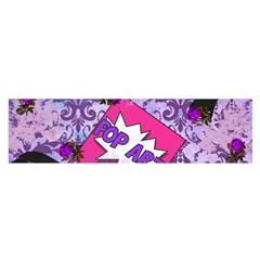 Purple Retro Pop Satin Scarf (oblong)