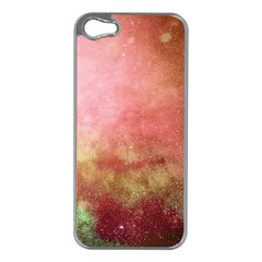 Galaxy Red Apple Iphone 5 Case (silver)