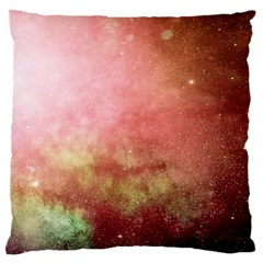 Galaxy Red Large Flano Cushion Case (two Sides)