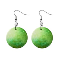 Galaxy Green Mini Button Earrings