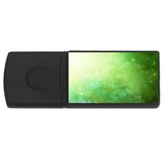 Galaxy Green Rectangular Usb Flash Drive