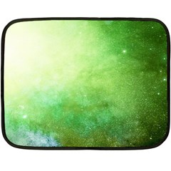Galaxy Green Double Sided Fleece Blanket (mini)  by snowwhitegirl