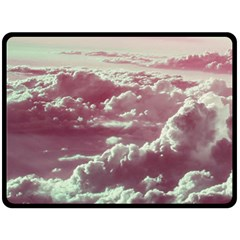 In The Clouds Pink Fleece Blanket (large)
