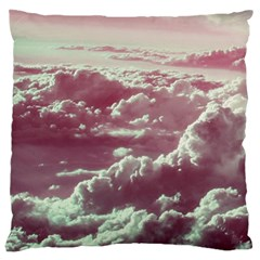 In The Clouds Pink Large Cushion Case (one Side)