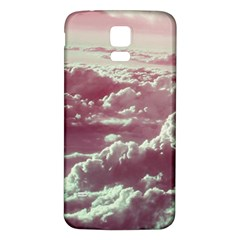 In The Clouds Pink Samsung Galaxy S5 Back Case (white)