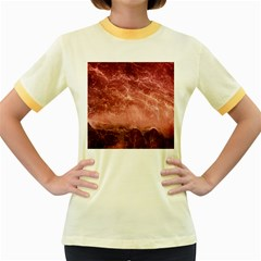 Red  Ocean Splash Women s Fitted Ringer T Shirt