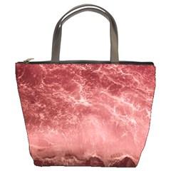 Red  Ocean Splash Bucket Bags