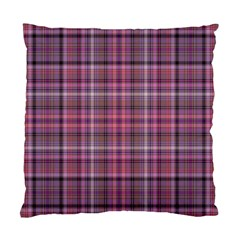 Pink Plaid Standard Cushion Case (two Sides)