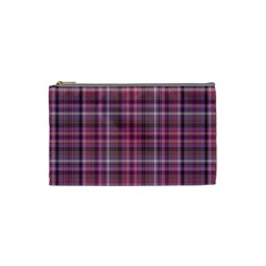 Pink Plaid Cosmetic Bag (small)