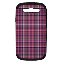Pink Plaid Samsung Galaxy S Iii Hardshell Case (pc+silicone)