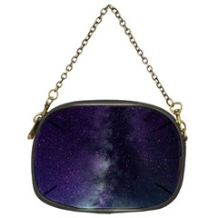 Galaxy Sky Purple Chain Purse (two Sides)