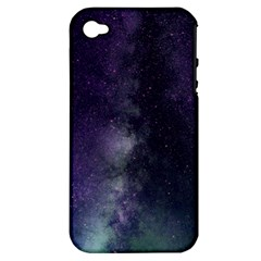 Galaxy Sky Purple Apple Iphone 4/4s Hardshell Case (pc+silicone)