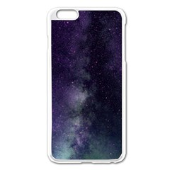 Galaxy Sky Purple Apple Iphone 6 Plus/6s Plus Enamel White Case