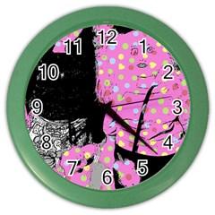 Weird Smile Color Wall Clock