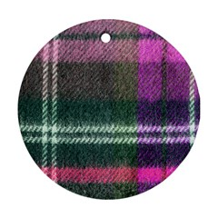 Pink Plaid Flannel Ornament (round)