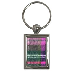 Pink Plaid Flannel Key Chains (rectangle)
