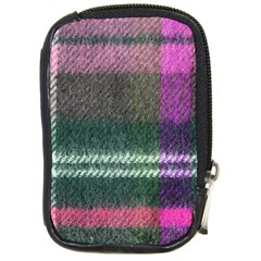 Pink Plaid Flannel Compact Camera Leather Case