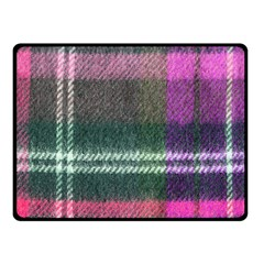 Pink Plaid Flannel Fleece Blanket (small) by snowwhitegirl
