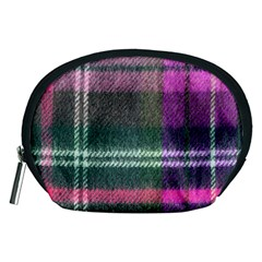 Pink Plaid Flannel Accessory Pouch (medium)