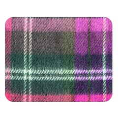 Pink Plaid Flannel Double Sided Flano Blanket (large)  by snowwhitegirl