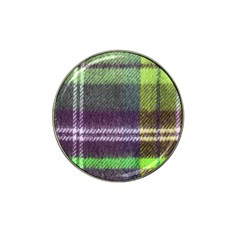 Neon Green Plaid Flannel Hat Clip Ball Marker (10 Pack)