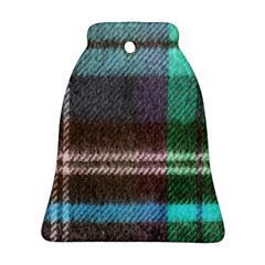 Blue Plaid Flannel Bell Ornament (two Sides)