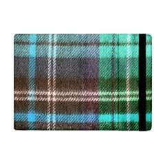 Blue Plaid Flannel Apple Ipad Mini Flip Case
