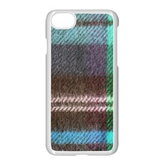 Blue Plaid Flannel Apple Iphone 7 Seamless Case (white)