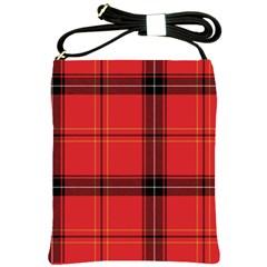 Red Plaid Shoulder Sling Bags