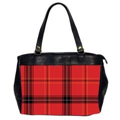 Red Plaid Office Handbags (2 Sides)