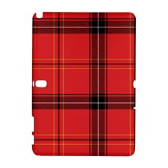 Red Plaid Samsung Galaxy Note 10 1 (p600) Hardshell Case