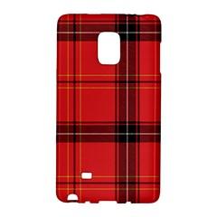 Red Plaid Samsung Galaxy Note Edge Hardshell Case