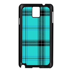 Aqua Plaid Samsung Galaxy Note 3 N9005 Case (black)
