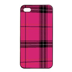 Dark Pink Plaid Apple Iphone 4/4s Seamless Case (black)