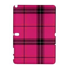 Dark Pink Plaid Samsung Galaxy Note 10 1 (p600) Hardshell Case