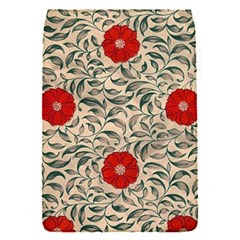 Papanese Floral Red Flap Covers (s)