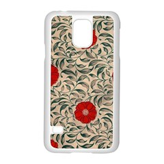 Papanese Floral Red Samsung Galaxy S5 Case (white)