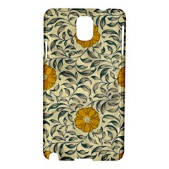 Japanese Floral Orange Samsung Galaxy Note 3 N9005 Hardshell Case