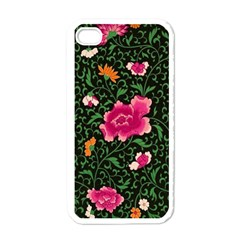 Pink Japan Floral Apple Iphone 4 Case (white)