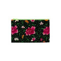 Pink Japan Floral Cosmetic Bag (xs) by snowwhitegirl