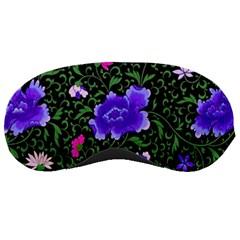 Blue  Japan Floral Sleeping Masks