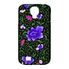 Blue  Japan Floral Samsung Galaxy S4 Classic Hardshell Case (pc+silicone)