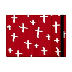 Red White Cross Apple Ipad Mini Flip Case