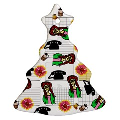 Office Girl Pattern Christmas Tree Ornament (two Sides) by snowwhitegirl