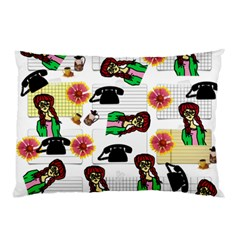 Office Girl Pattern Pillow Case (two Sides)