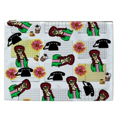Office Girl Pattern Cosmetic Bag (xxl)
