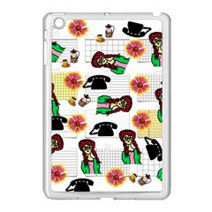Office Girl Pattern Apple Ipad Mini Case (white)