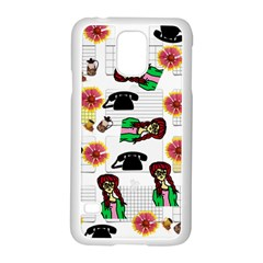 Office Girl Pattern Samsung Galaxy S5 Case (white)