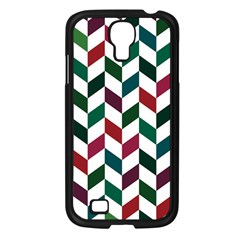 Zigzag Chevron Pattern Green Red Samsung Galaxy S4 I9500/ I9505 Case (black)
