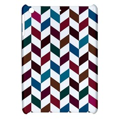 Zigzag Chevron Pattern Blue Brown Apple Ipad Mini Hardshell Case by snowwhitegirl